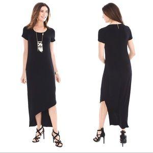 CHICO'S 0 Travelers Classic Asymmetrical Hem Dress